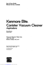 Kenmore 125.81714610 Use & Care Manual