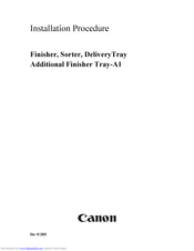 Canon Inner Finisher Additional Tray-A1 Installation Procedure