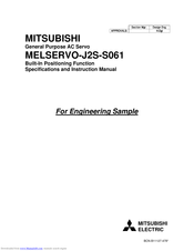 Mitsubishi Electric MR-J2S-**A-S061 Series Specifications And Instruction Manual