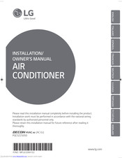 LG AC Ez Installation & Owner's Manual