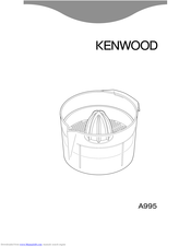 Kenwood A995 Manual