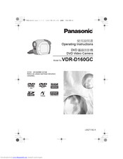 Panasonic VDR-D160GC Operating Instructions Manual