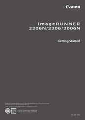 Canon imageRUNNER 2206N Getting Started