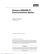 Siemens Apogee P1 Technical Manual