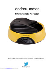 Andrew James 4 Day Automatic Pet Feeder Manuals
