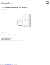 Honeywell T10 Pro Smart User Manual