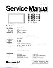 Panasonic TH-42PH10ES Service Manual