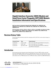 cisco GLC-ZXSM Installation And Specification Manual