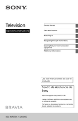 Sony BRAVIA KDL-32R320C Operating Instructions Manual