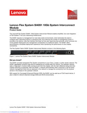 Lenovo Flex System SI4091 10Gb Product Manual