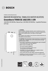 Bosch Greentherm T9900 SE 160 Installation And Operating Instructions Manual