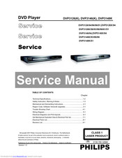 Philips DVP3126K/93 Service Manual