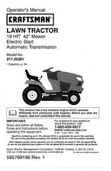 Craftsman 917.20381 Operator's Manual