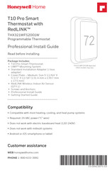 honeywell T10 Pro Smart Professional Install Manual