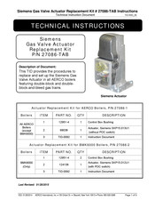 Siemens 27086-TAB Technical Instructions