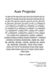 Acer ML-160S User Manual