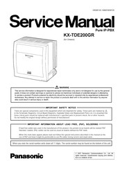 Panasonic KX-TDE200GR Service Manual