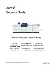 Xerox Color 1000i Press Security Manual