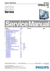 Philips 40PFL3088H/12 Service Manual
