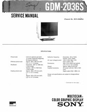 Sony Multiscan GDM-2036S Service Manual