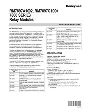 Honeywell RM7897C1000 Installation Instructions Manual