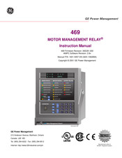GE MOTOR MANAGEMENT RELAY 469 Instruction Manual