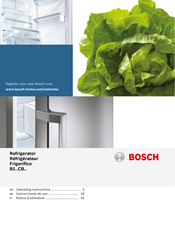 Bosch B1.. CB SERIES Operating Instructions Manual