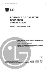 LG LPC-M140X Owner's Manual