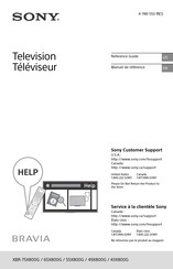Sony Bravia XBR-75X800G Reference Manual