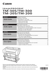 Canon imagePROGRAF TM-200 Quick Manual