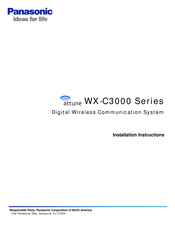 Panasonic Attune WX-H3027 Installation Instructions Manual