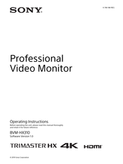 Sony TRIMASTER HX BVM-HX310 Operating Instructions Manual