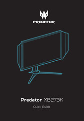 Acer Predator XB273K Quick Manual