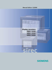 Siemens SIREC D300 Manual