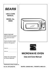 Sears Kenmore Elite 85063 Manuals