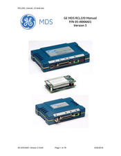 GE MDS RCL220 Manual