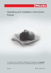 Miele F 31202 Ui Operating And Installation Instructions