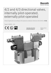 Bosch Rexroth H-4WEH...XE Series Operating Instructions Manual