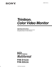 Sony TRINITRON PVM-D14L5A Operating Instructions Manual