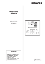 Hitachi PC-ARF1 Operation Manual
