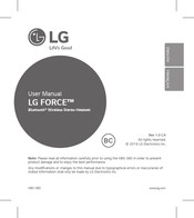 LG FORCE HBS-S80 User Manual