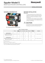 Honeywell Spyder 5 WEB-RL6N Installation Manual