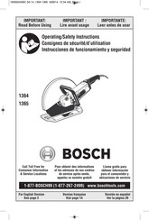 Bosch 1364 - 15 Amp Hand Held Abrasive Cutoff Machine Operating And Safety Instructions Manual