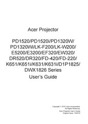 Acer PD1520i Series User Manual