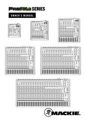 Mackie ProFXv3 Series Manuals on