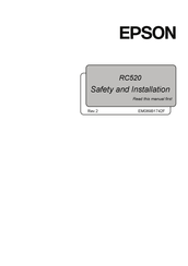 Epson RC520 Safety And Installation