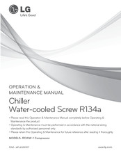 LG RCWW-1 Operation & Maintenance Manual