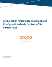HP Aruba 3810M Series Management And Configuration Manual