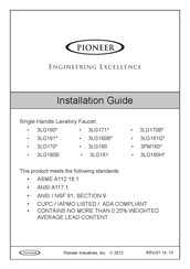 Pioneer 3LG181 Installation Manual