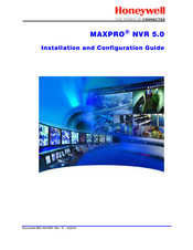 Honeywell MAXPRO NVR SE Hardware Installation And Configuration Manual